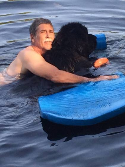 mark-on-raft-with-sarge